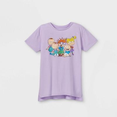 Girls' Nickelodeon Rugrats Short Sleeve Graphic T-Shirt - Purple