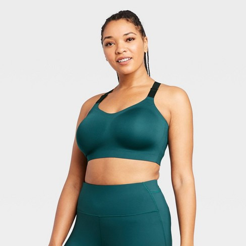 Women's High Support Bonded Bra - All in Motion™ Teal XXL - image 1 of 4