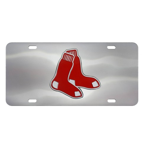 MLB Boston Red Sox Stainless Steel Metal License Plate - image 1 of 3