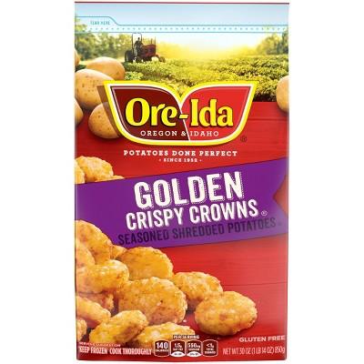 Ore-Ida Crispy Crowns Seasoned Frozen Shredded Potatoes - 30oz
