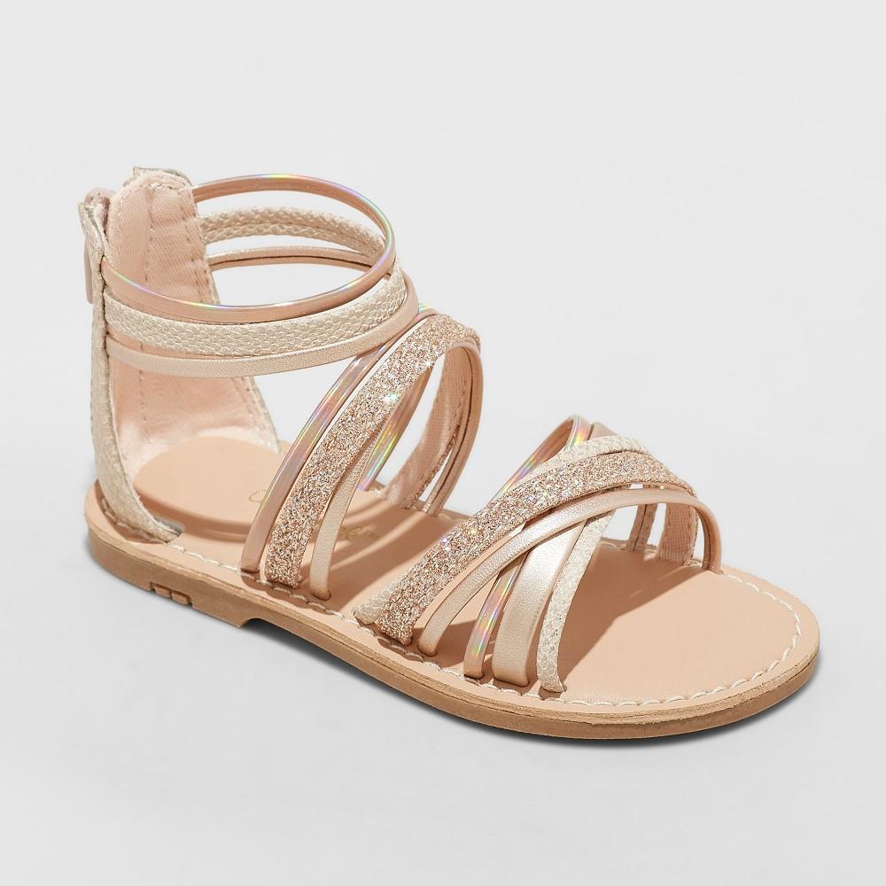 Toddler Girls' Cami Gladiator Sandals - Cat & Jack Rosegold 7, Pink