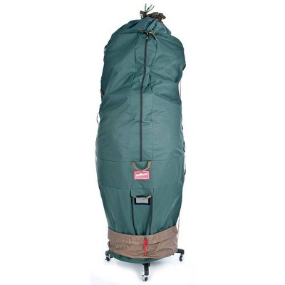 TreeKeeper Large Girth Upright Tree Storage Bag with Rolling Tree Stand