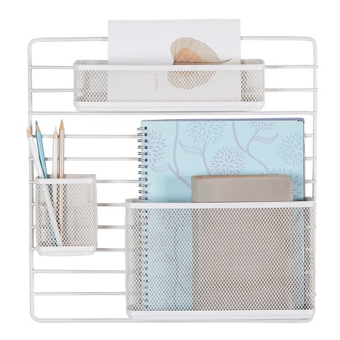 Mesh Wall Office Supply Organizer White - Made By Design™ - image 1 of 4