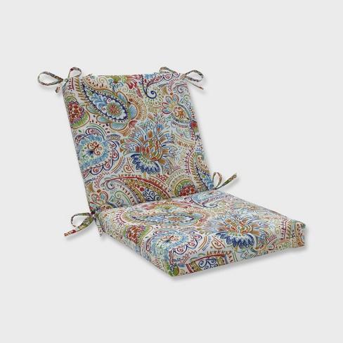 Astonishing Gilford Festival Squared Corners Outdoor Chair Cushion Blue Pillow Perfect Uwap Interior Chair Design Uwaporg