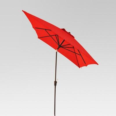 6.5u0027x10u0027 Rectangle Patio Umbrella   Red   Black Pole   Threshold™ : Target