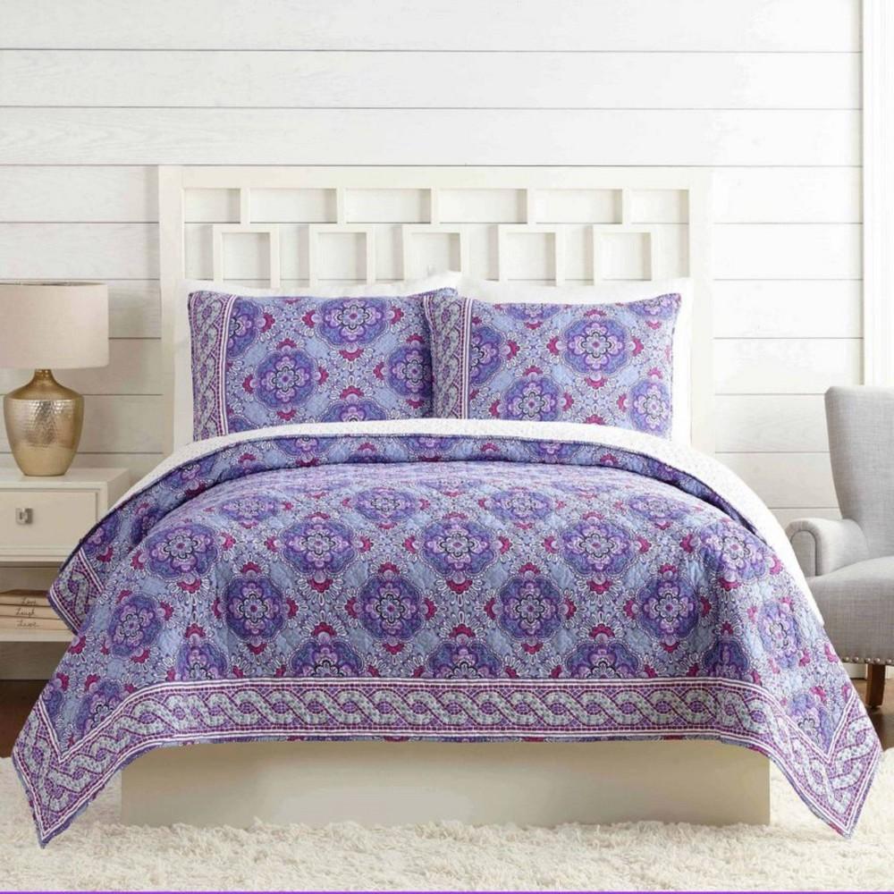 Full Queen Purple Passion Reversible Quilt Vera Bradley