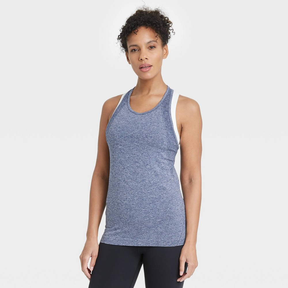 Women 39 S Seamless Core Tank Top All In Motion 8482 Sapphire L
