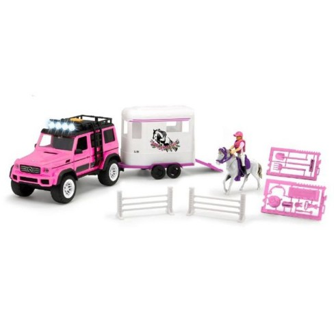 Dickie Toys Playlife Horse Trailer Playset - Pink - image 1 of 4