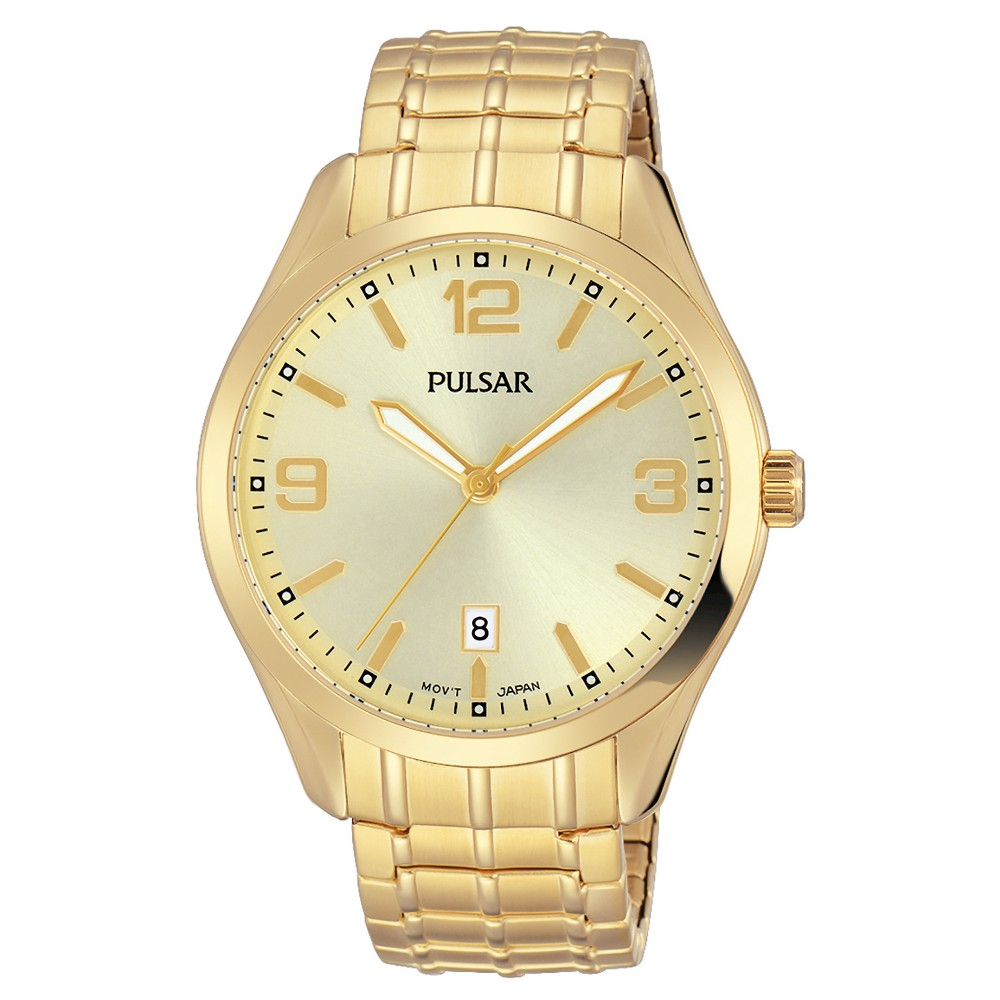 Men's Pulsar - Expansion Band Gold Tone with Champagne Dial PS9488, Light Gold