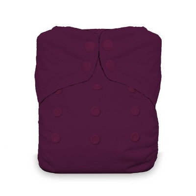 Thirsties Snap Natural One Size All In One Reusable Diaper Cover Sugar Plum