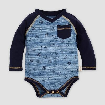 Burt's Bees Baby® Baby Boys' Spacedye Farm Harvest Organic Cotton Bodysuit - Blue 0-3M