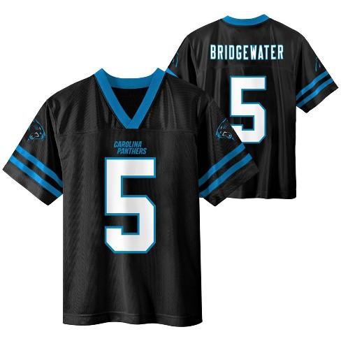 NFL Carolina Panthers Boys' Teddy Bridgewater Short Sleeve Jersey - L