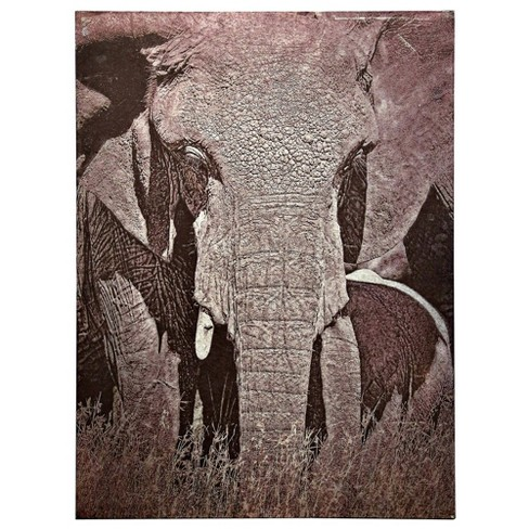 """48"""" Tusker Printed On Metal Decorative Wall Art - StyleCraft - image 1 of 3"""