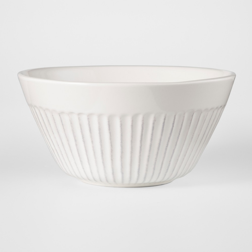 Stoneware Harrison Cereal Bowl 19oz White Threshold 8482
