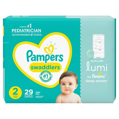 Pampers Lumi Swaddlers Jumbo Pack Diapers - Size 2 - 29ct