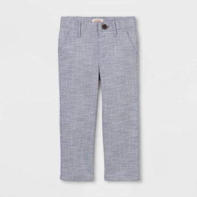 Toddler Boys' Stretch Chambray Chino Pants - Cat & Jack™ Blue