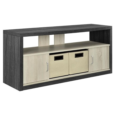 "Highcrest TV Stand for TVs up to 50"" with 2 Fabric Bins - Espresso/Light Brown - Room & Joy - image 1 of 5"