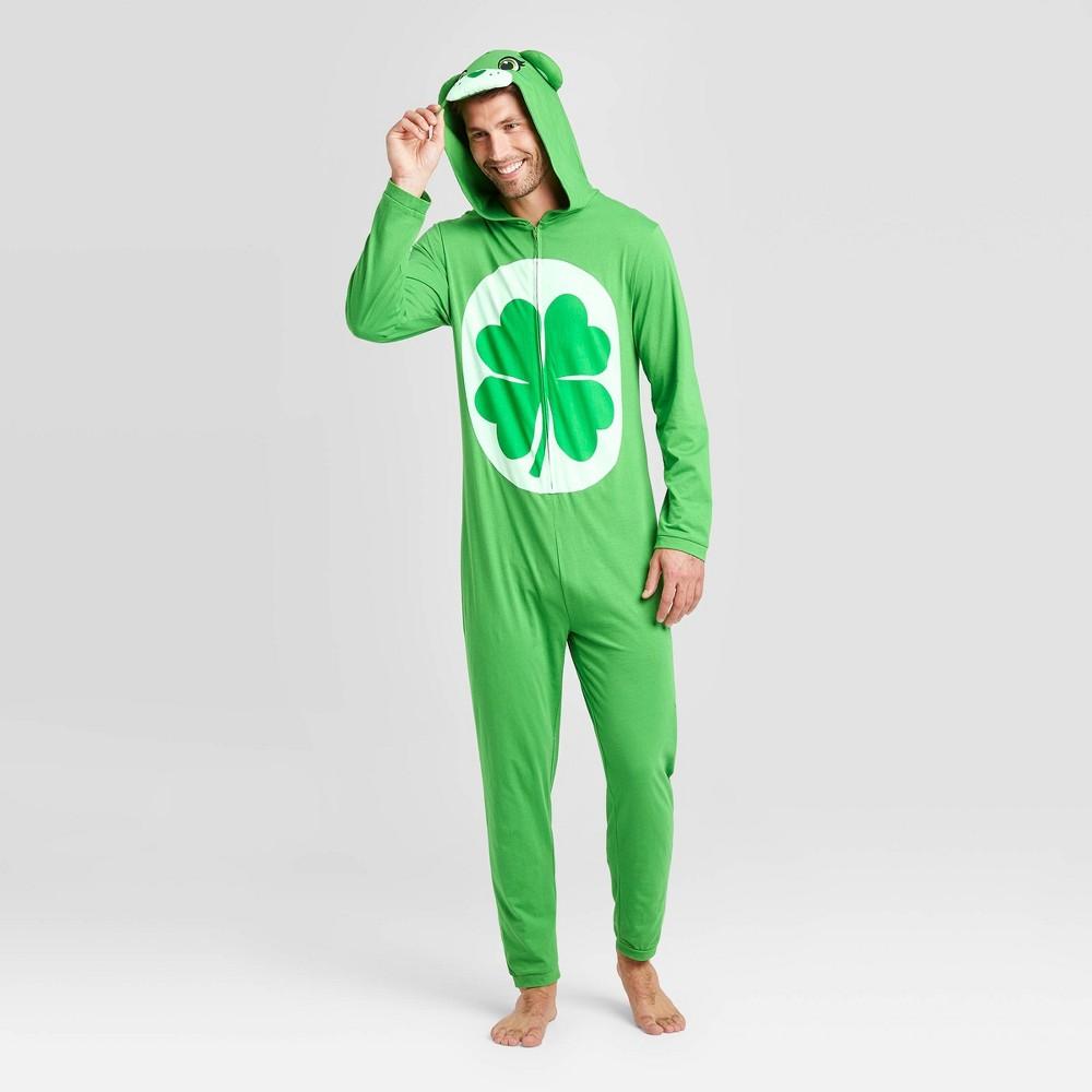 Image of Men's Care Bears 2 Knit Union Suit - Green L, Men's, Size: Large
