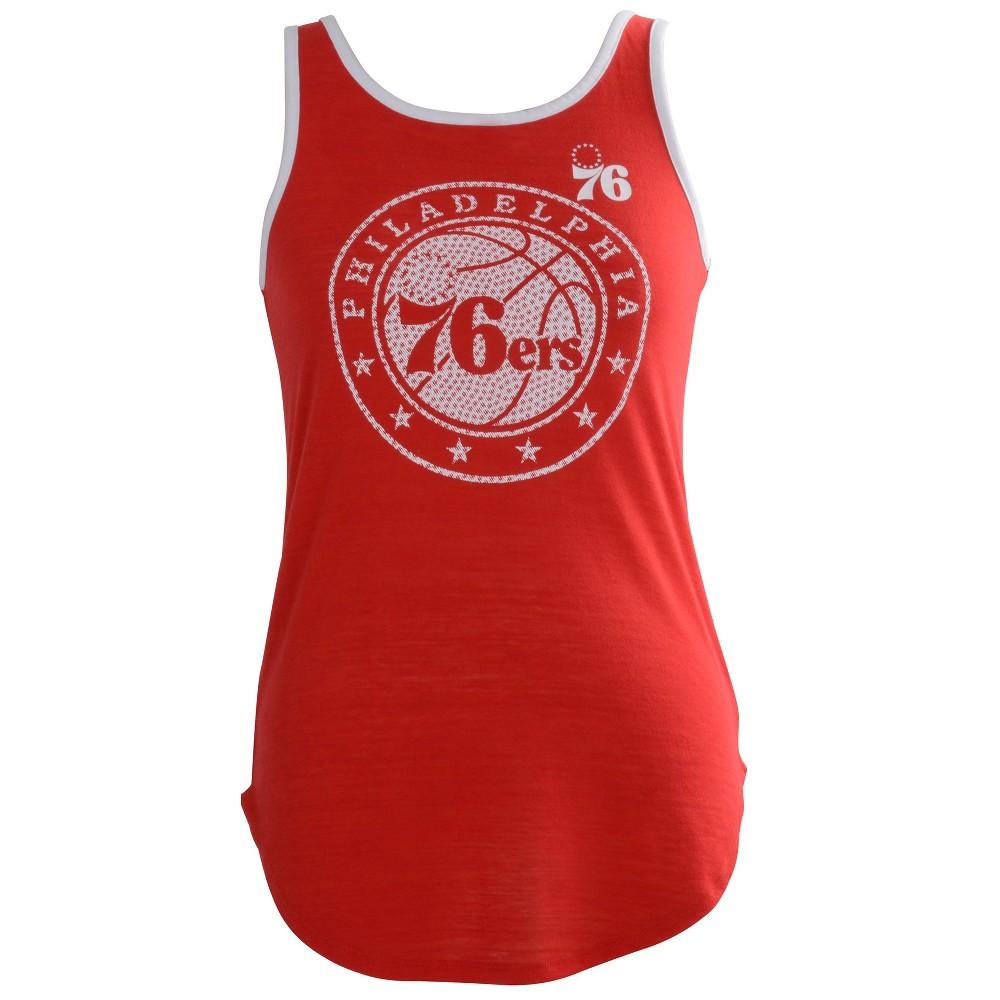 Philadelphia 76ers Women's B-Ball Slub Jersey Tank Top - M, Multicolored