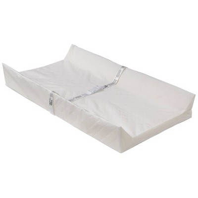 Serta Foam Contoured Changing Pad with Waterproof Cover - White