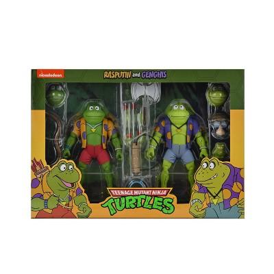 "Teenage Mutant Ninja Turtles (Cartoon) – 7"" Scale Action Figure –Genghis & Rasputin Frog 2 pack"