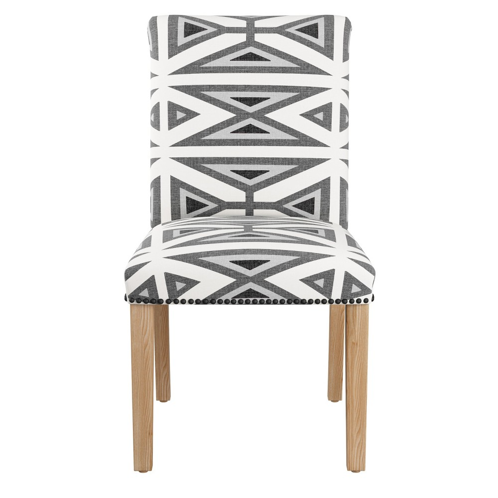 Shelly Nail Button Dining Chair Gray with Black Nail Buttons - Cloth & Co.