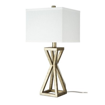 """22.5"""" Metal Cage Table Lamp Silver - Cresswell Lighting"""