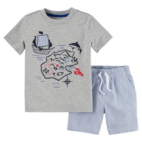 987f65af7 Toddler Boys' 2pc Shorts Set - Just One You™ Made by Carter's® Heather Gray/ Blue 5T
