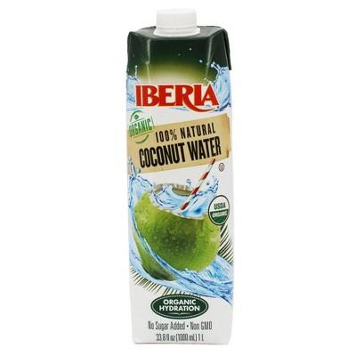 Iberia Organic Coconut Water 100% Natural - 12pk/1L Bottles