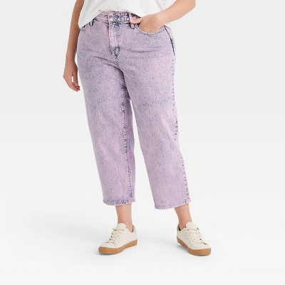 Women's Super-High Rise Vintage Straight Cropped Jeans - Universal Thread™