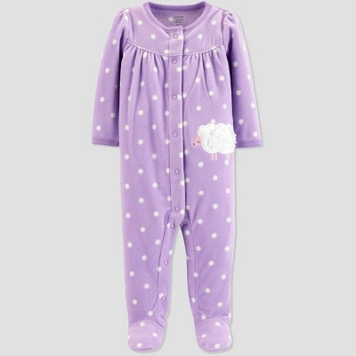 Baby Girls' Sheep Microfleece Sleep 'N Play - Just One You® made by carter's Purple Newborn