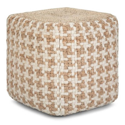 Digby Cube Pouf Natural - Wyndenhal