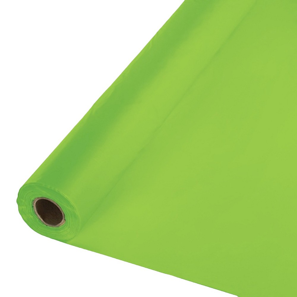 Fresh Lime Green Disposable Tablecloth