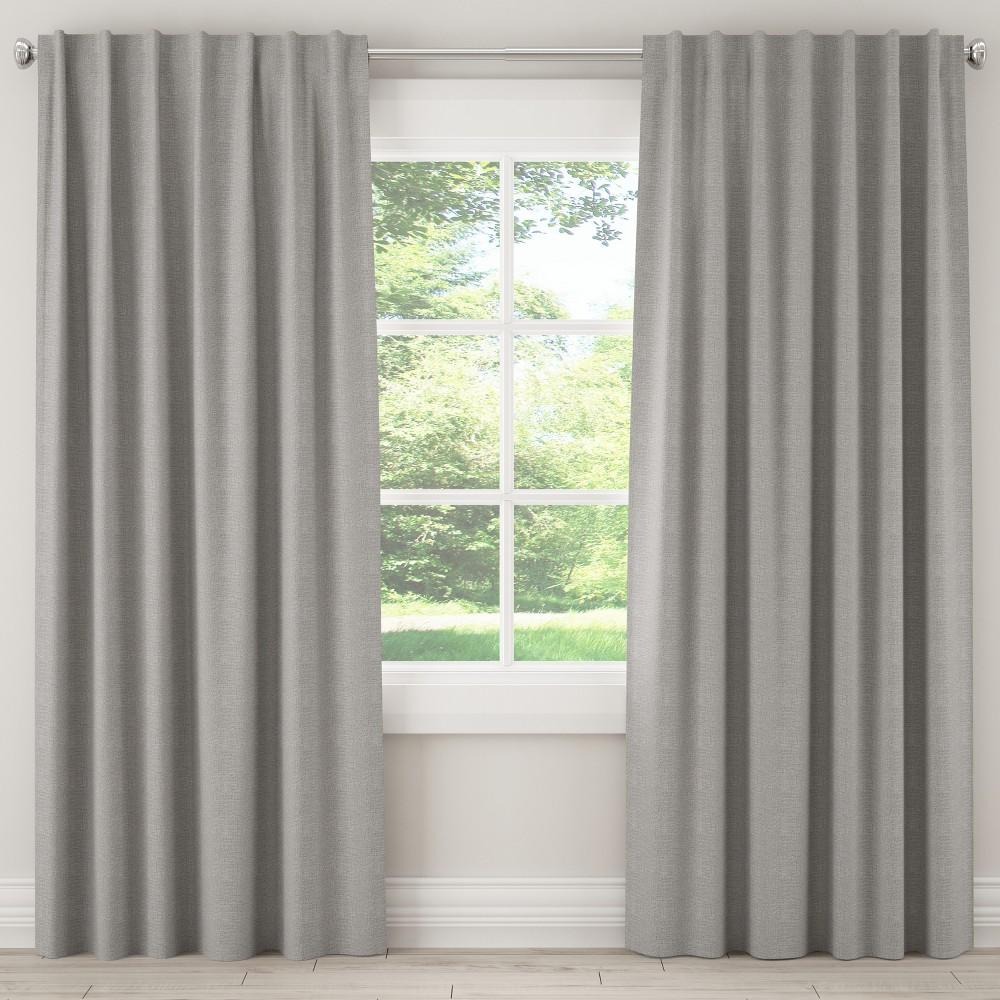 Unlined Zuma Curtain Panel Light Gray (50