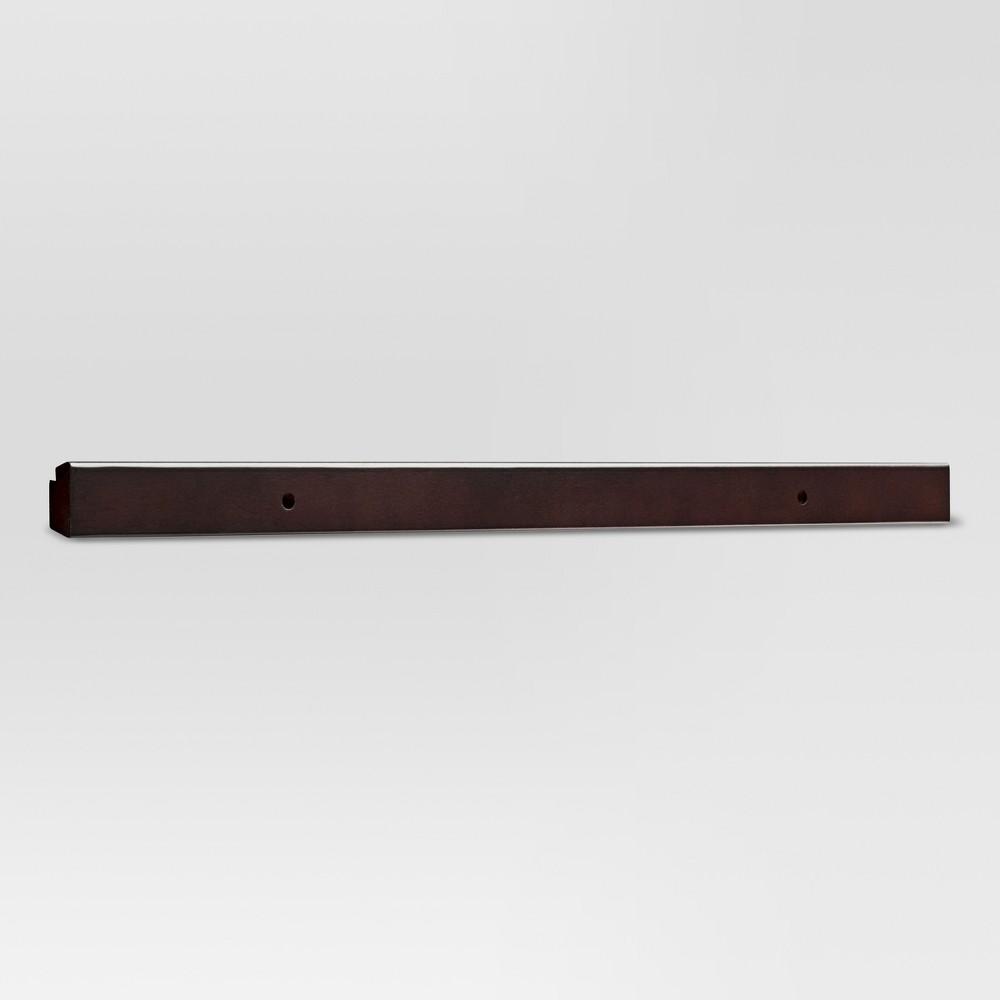 27 Wood Rail - Espresso (Brown) - Threshold