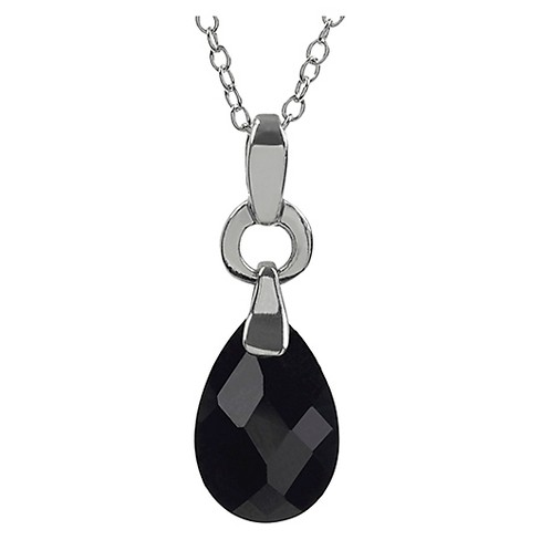 "3 2/5 CT. T.W. Pear-cut CZ Bead Set Tear Drop Pendant Necklace in Sterling Silver - (18"") - image 1 of 3"
