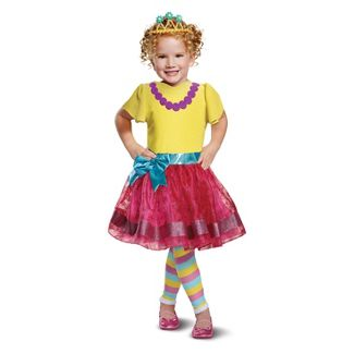 Girls' Fancy Nancy Deluxe Halloween Costume S (4-6)