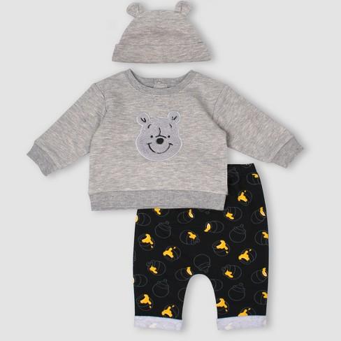 f4a41b9e841a Baby Boys  3pc Disney Winnie The Pooh Set - Gray   Target