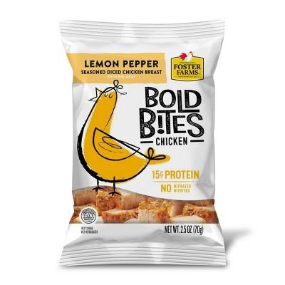 Foster Farms Bold Bites Lemon Pepper Diced Chicken - 2.5oz