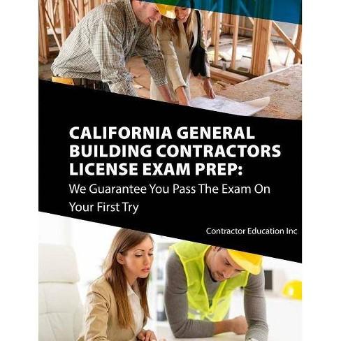 California Contractors License Exam Prep - by Contractor Education Inc  (Paperback)