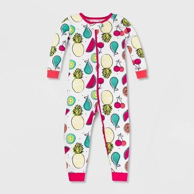Lamaze Baby Girls' Organic Cotton Pajama Romper - White