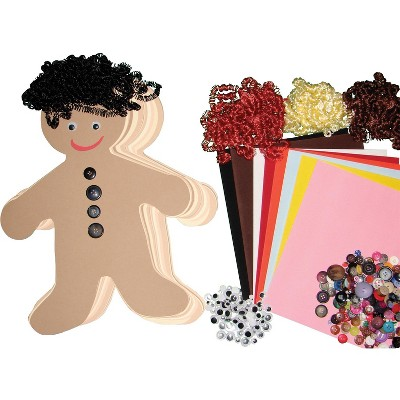 Hygloss Diverse Multi-Ethnic People Kit, 7 Inches, pk of 24