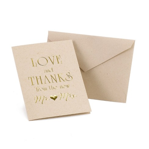 "50ct ""from the new Mr. and Mrs."" Thank You Card Pack - image 1 of 1"
