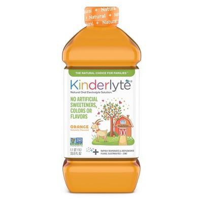 Kinderlyte Natural Oral Electrolyte Orange Solution - 33.8 fl oz