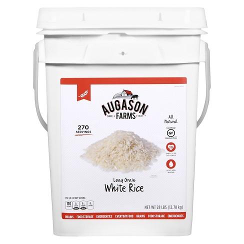 Augason Farms Gluten Free Long Grain White Rice Paul - 28lb - image 1 of 6