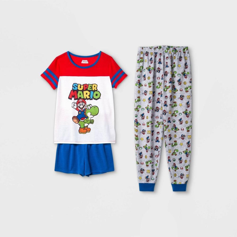 Girls 39 Super Mario 3pc Pajama Set Xs