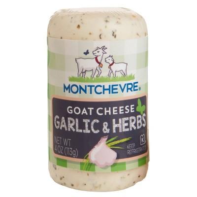 Montchevre Mediterranean Herbs & Garlic Goat Cheese - 4oz