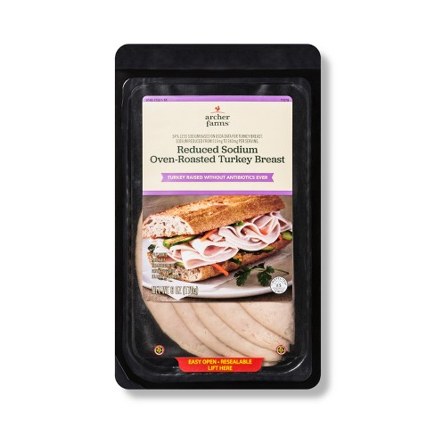 Reduced Sodium Oven-Roasted Turkey Breast - 6oz - Archer Farms™ - image 1 of 1