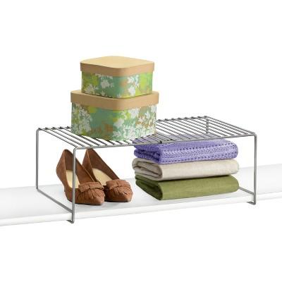 Lynk Expandable Locking Extra Shelf   Adjustable Closet Shelf Organizer    Platinum : Target