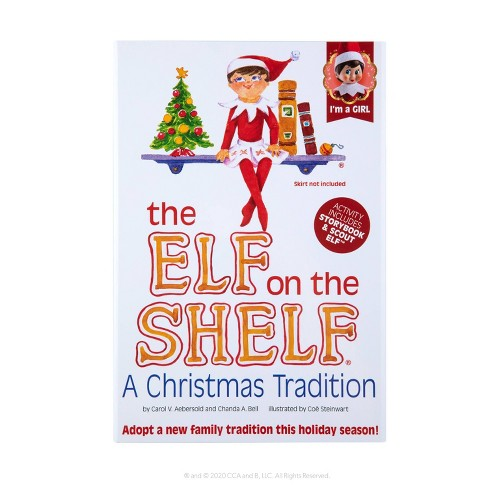 The Elf on the Shelf - Blue Eye Girl Elf - by Chanda Bell (Hardcover) - image 1 of 4